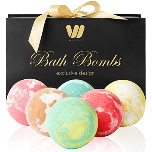 6-Organic-Natural-Bath-Bombs-Handmade-Bubble-Bath-Bomb-Gift-Set-Rich-in-Essential-Oil-Shea-Butter-Coconut-Oil-Grape-Seed-Oil-Fizzy-Spa-to-Moisturize-Dry-Skin-Perfect-Gift-idea-for-Women