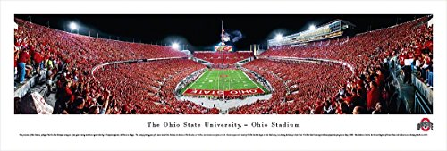 Ohio State Football - End Zone - Blakeway Panoramas Unframed College Sports Posters - Ohio State Historic Football