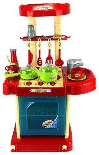 GT Super Kitchen Childrenu0027s Kidu0027s Pretend Play Toy Kitchen Playset W/ Pot,  Pan,
