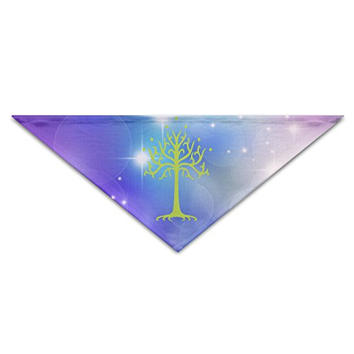 [Pet Bandanas - Personalized White Tree Lord Of Ring Pet Bandana Scarf - Triangle Scarf Collar Neckerchief For Dog] (Sauron Costumes)