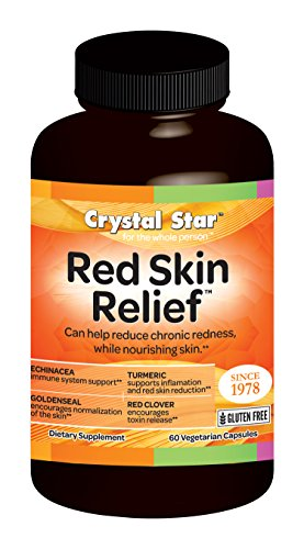 Crystal Star Red Skin Relief Supplement, 60 Count (Crystals Skin)