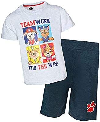 Nickelodeon Paw Patrol Boys T-Shirt and French Terry Shorts Set
