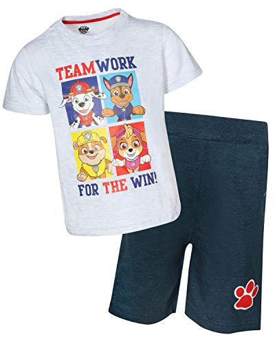 Nickelodeon Paw Patrol Boys 2-Piece French Terry Short Set (Paw for The Win, 7)']()