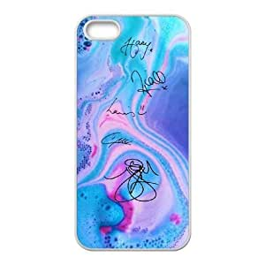 wugdiy Personalized Durable Case Cover for iPhone 5,5S with Brand New Design One Direction Signature