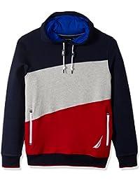 Men's Long Sleeve Big Logo Colorblocked Pullover Hoodie
