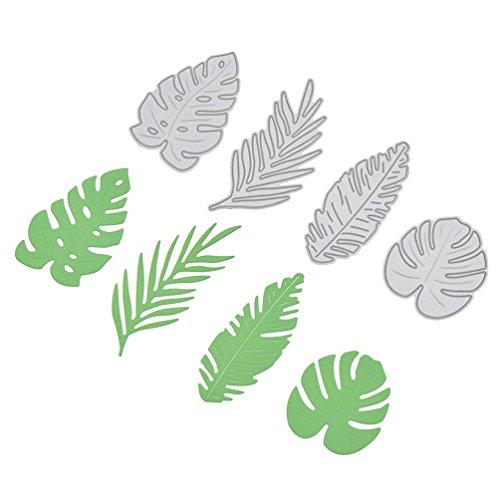 Monstera Leaf Cutting Die Stencil DIY Paper Card Flower Swan Metal Template ()