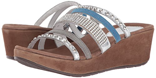 Oletha Sandal Women's Wedge Spring Step multi Silver v7EWIF