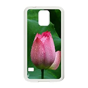 Vety Lotus Flower Closeup Ilike Case for Samsung Galaxy S5, with White
