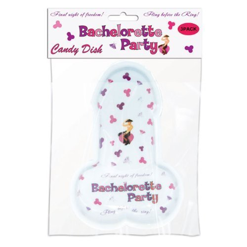 Bachelorette Party Pecker Candy Dish 3 Per Pack (Frog Dish Candy)