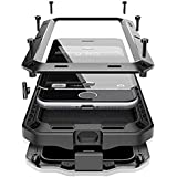 iPhone 8 Case,iPhone 7 Case,Marrkey 360 Full Body Protective Cover Heavy Duty Shockproof [Tough Armour] Aluminum Alloy Metal Case with Silicone Built-in Screen Protector for iPhone 7/8 - Black
