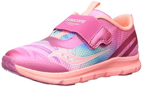 Saucony Baby Liteform Sneaker, Pink/Multi, 090 Medium US Toddler