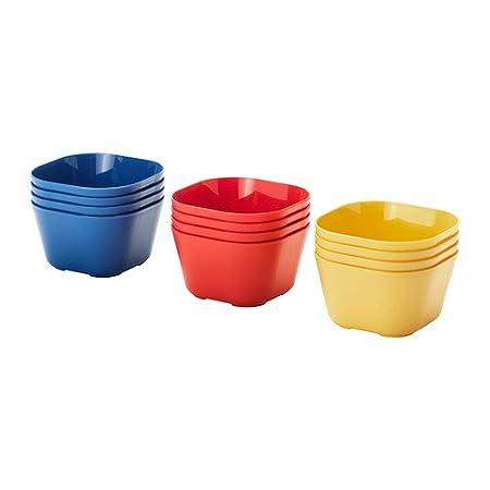 Ikeau0027s Solfint Reusable Plastic Dinnerware Bowls - Red Yellow Blue (Set of 12  sc 1 st  Amazon UK & Ikeau0027s Solfint Reusable Plastic Dinnerware Bowls - Red Yellow Blue ...
