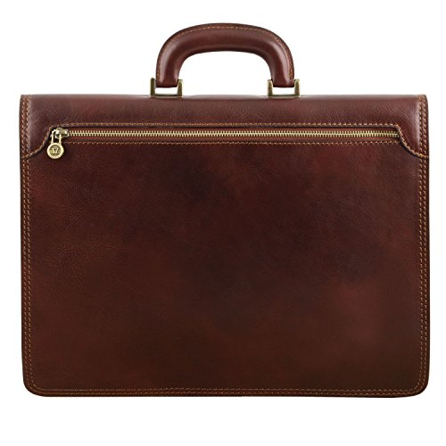 Tuscany Leather Brown Dark Dark compartment Amalfi 1 briefcase Brown Leather rrqwACZ