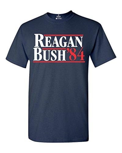 Shop4Ever® Reagan Bush 84 T-shirt Republican Presidential Campaign Shirts