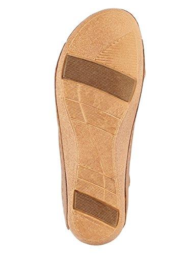 KLiNGEL Damen Sandale mit Raffinierter Schlaufe Cognac