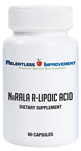 Relentless Improvement NaRALA R-Alpha-Lipoic Acid | 300mg ACTIVE From 375mg TOTAL FILL For Sale