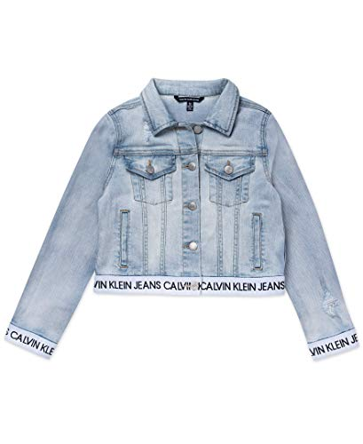 - Calvin Klein Girls' Big Denim Jacket, Breeze Logoband, L12/14
