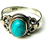 Shanya Sterling Silver Ethnic Ring Turquoise Howlite