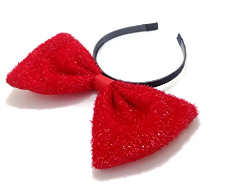 Sparking Center Bow Headband ; H2 (Sparking Red)