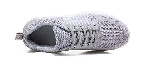 Gran Respirables Zapatillas Marea y Zapatos Malla Mujer Tamaño de Casuales de 35 Otoño XIE Primavera Corrientes Lace Verano Zapatos de de para Deporte Zapatos de Moda Comfort de gray 40 de Zapatos Joker qnHn1OSf
