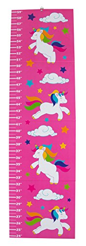 (Growth Chart - Unicorn Height Measuring Chart for Kids, Girls, and Boys, Wall Hanging Ruler for Nursery, Baby Room, Measure Up to 59 Inches)
