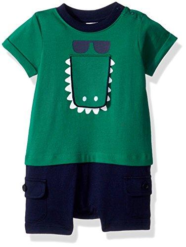 - Gymboree Baby Boys Short Sleeve Animal Print Cargo Onesie, Grass Green, 3-6 Mo