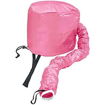 Beautyours Safety Portable Hair Dryer Bonnet Attachment for Hair Styling - Deep Pink