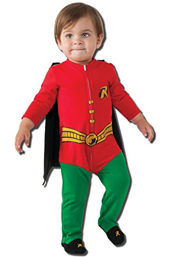 Rubie's Costume Baby's DC Comics Superhero Style Baby Robin Costume, Multi, 6-12 (Robins Different Costumes)