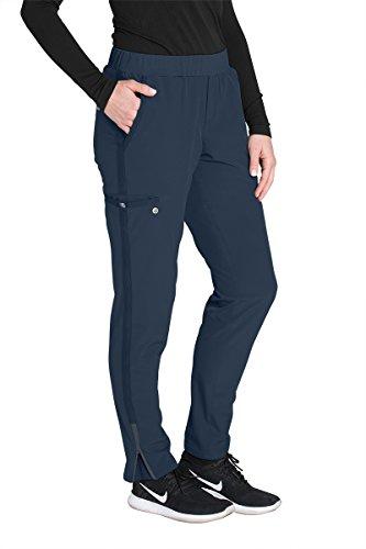 Barco One Wellness BWP505 Womens Modern Fit 5-Pocket Knit Waist Cargo Zen Scrub Pant