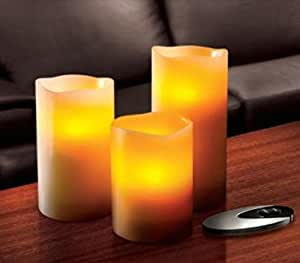 Sarah Peyton 3-Piece Flameless Candle Set with Remote Control