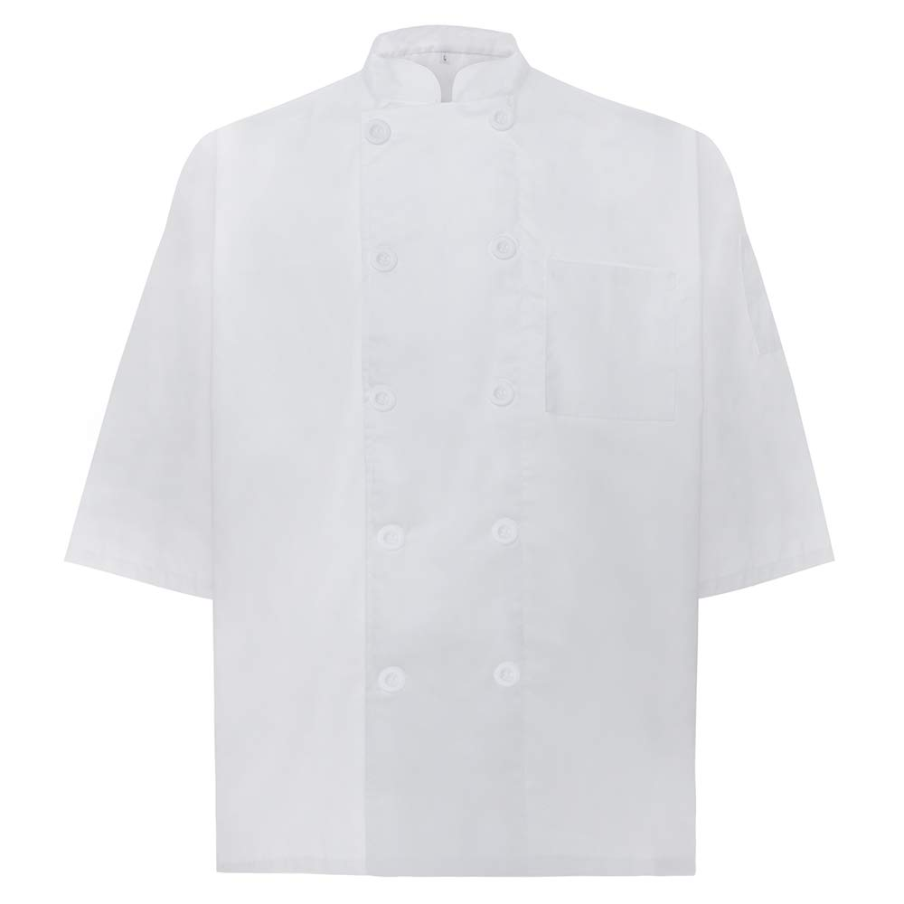 TOPTIE Unisex Classic 3/4 Sleeve Active Chef Coat CHIX-DK61102