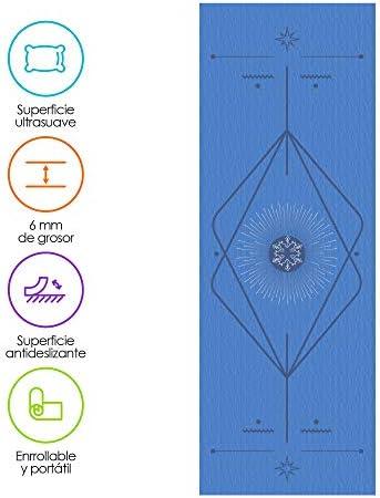 Redlemon Tapete de Yoga, Yoga Mat de 6mm de Grosor, Diseño Bicolor Ultrasuave, Antideslizante, Resistente, Flexible, Fácil de Limpiar, Enrollable. Ideal Para Pilates, Fitness, Meditación y más 4