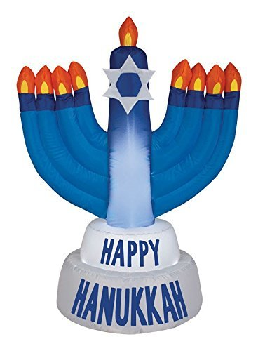Gemmy Industries Hanukkah Menorah Christmas Inflatable Plastic ()