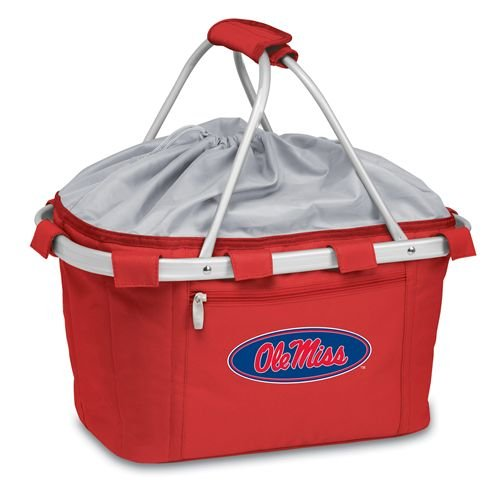 Metro Basket - Mississippi, University of - Lightweight, insulated basket. Features waterproof interior and expandable drawstring top. Aluminum frame with polyester canvas.