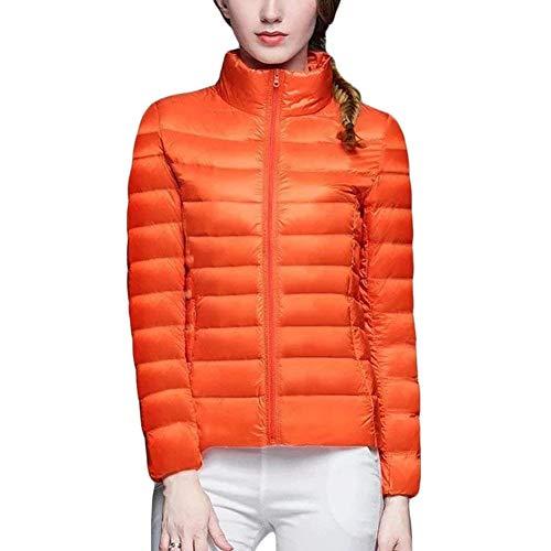 En coloré Compressible Veste Droit Matelassée À Orange Xxl Taille Womensultra Et Duvet Légère Chaud Col wXfgIP
