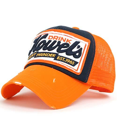 faf9218495d ililily Howel s Distressed Vintage Cotton Baseball Mesh Cap Snapback Big  Trucker Hat. by ililily. Color  Orange. product-variation