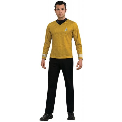 [Star Trek Movie Gold Shirt, Adult XL Costume] (Star Trek Costumes For Men)