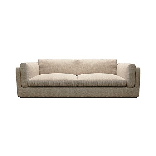 Ucofor S609 3 Colours Available Modern Minimalist Combined 3 + 2 + 1 Seater Cloth Sofa for Big or Small Apartment (3 Seater, Beige)