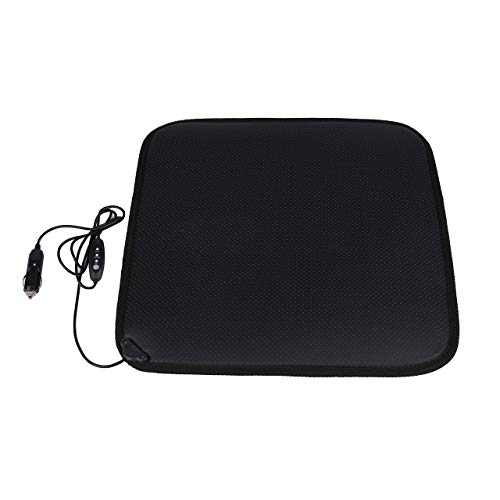 Facon 12Volt Heater Car Seat Cushion with 3-Way Temperature Controller for Car Trucks Vehicle (Heating Pad For Cigarette Lighter)