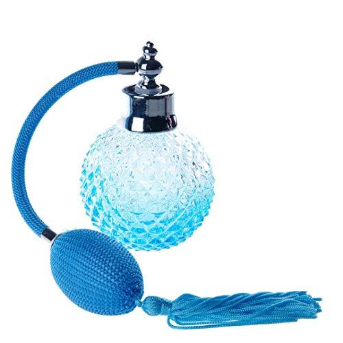 110Ml Empty l Perfume Replacement Spray Bottle Atomizer Long Tassel Bottle (Light Blue) as picture 110ml