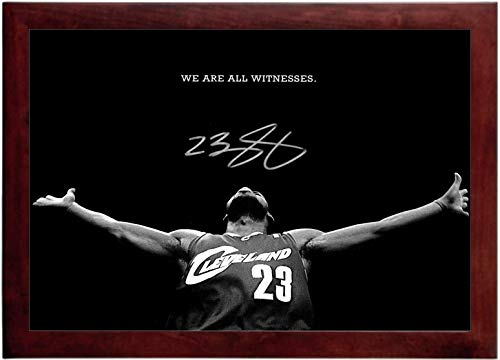Lebron James Autograph Replica Super Print - We are All Witness - Cleveland Cavaliers - Landscape - Framed