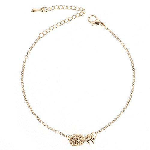Freedi Women Bracelets Pineapple Charm Fashion Jewelry with Extension Chain Adjustable Girls ()