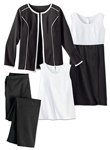 Contraste Amerimark Garniture 4 Pièce Garde Robe Noir