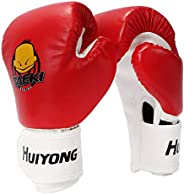 HUIYONG Kids Boxing Gloves, Punch Mitts MMA Gloves PU Cartoon Sparring Dajn Training Gloves, 4 Oz, for Age 2-1