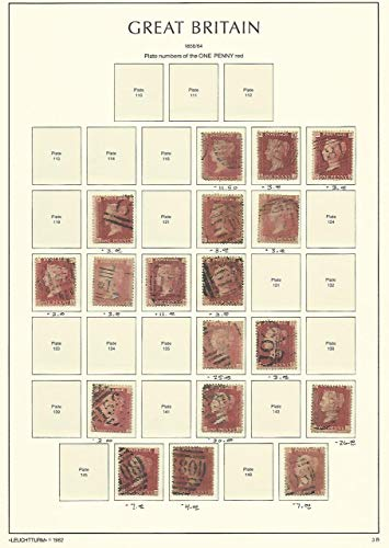 Great Britain Stamp Collection on Lighthouse Page 1858-64, 33, SCV $151