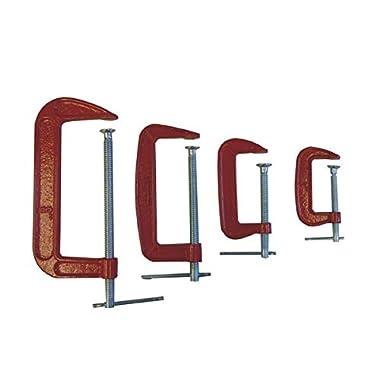 4-pc. C-Clamp Set (3 , 4 , 6 , 8 ), #CLC-4