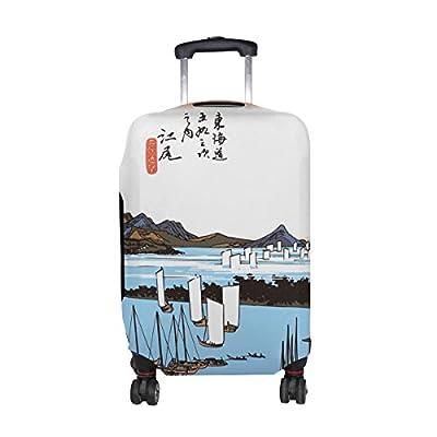cf31603382 Ukiyoe Ukiyo-E Print Japanese Art Travel Luggage Protector Baggage Suitcase  Cover Fits 18-