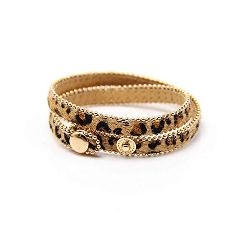 Storefashion Charm Bangle Inspirational Jewelry New Spring New Button Adjust Bracelet Multicolorname Leopard Print Fine Gifts for Women from Storefashion
