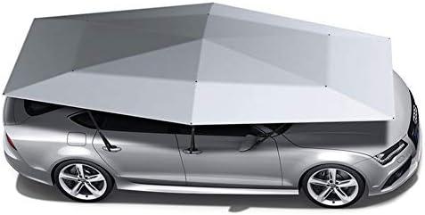 車のサンシェード半自動モバイルキャノピー/ポータブル車のテント傘車、商用車、ステーションワゴンなどの耐UV、防水,Silver grey,4800*2300 mm