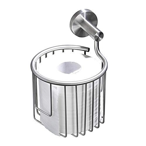 Installation Mount Concealed Surface (Toilet Paper Holder Bathroom Basket Paper Towel Storage Tissue Shelf 304 Stainless Steel Wall Mount Chrome Silver Brushed Finish)